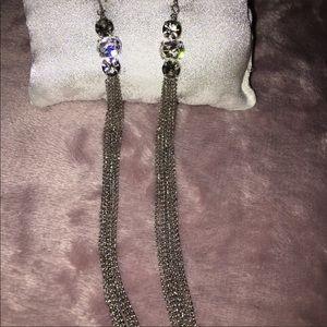 """Jewelry - 🔴 Trendy 6"""" Rhinestone Drop Earrings"""